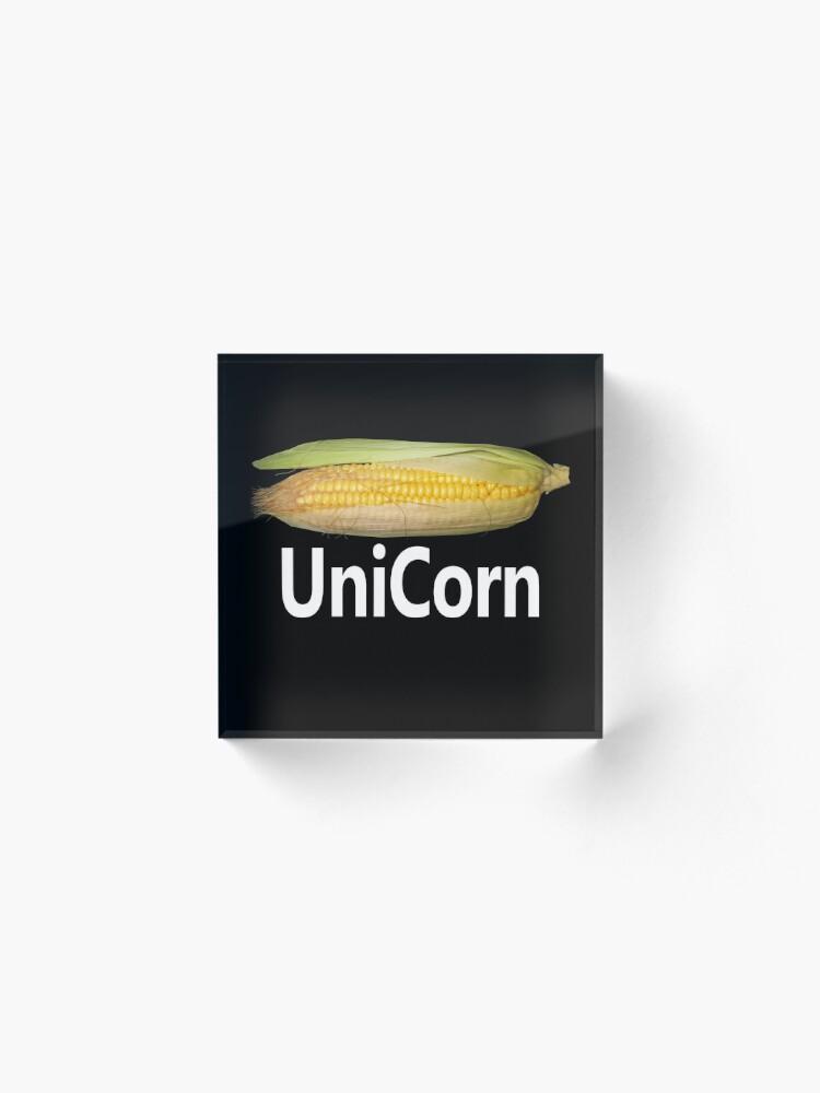 Alternate view of Cute Unicorn  Acrylic Block