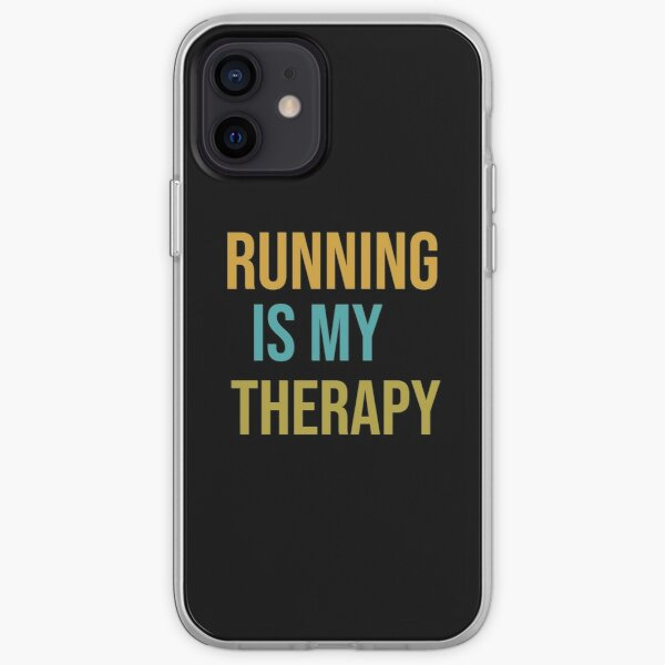 Running Shirt, Running is my therapy, Running is good for you. iPhone Soft Case
