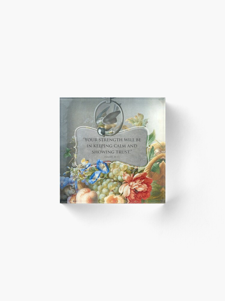 Alternate view of 2021 YEARTEXT (Fruits and Flowers) Acrylic Block