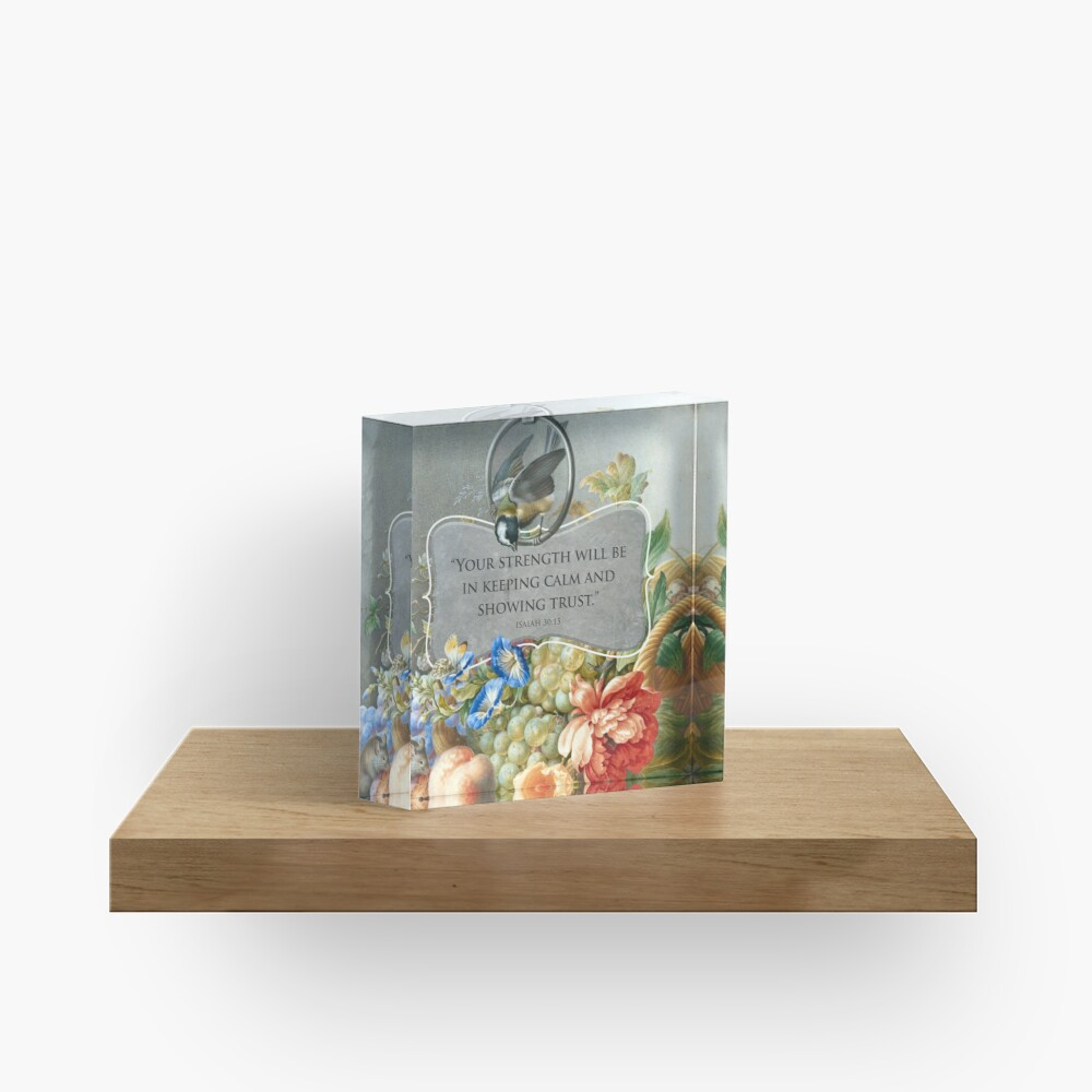 2021 YEARTEXT (Fruits and Flowers) Acrylic Block