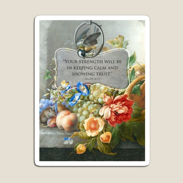 2021 YEARTEXT (Fruits and Flowers) Magnet