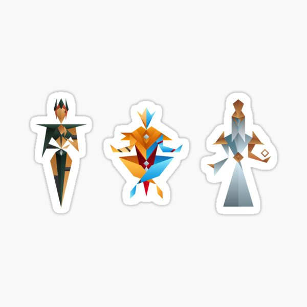 Abstract Tribunal Gods Sticker