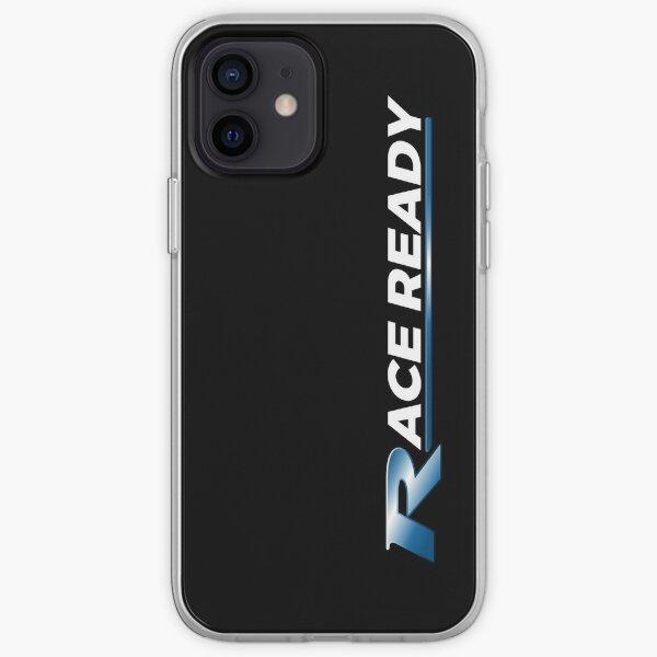 """Lema azul """"Race Ready"""": diseño de estilo de rendimiento Funda blanda para iPhone"""