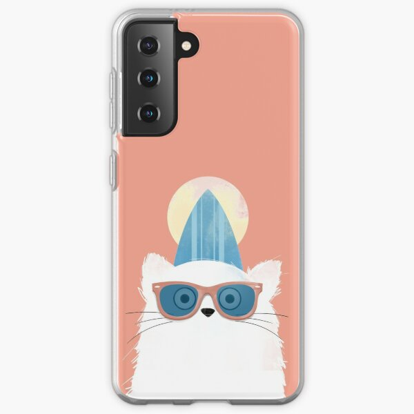 Surfer Beach Cat Samsung Galaxy Soft Case