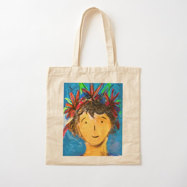 I Like Flowers In My Hair  Cotton Tote Bag