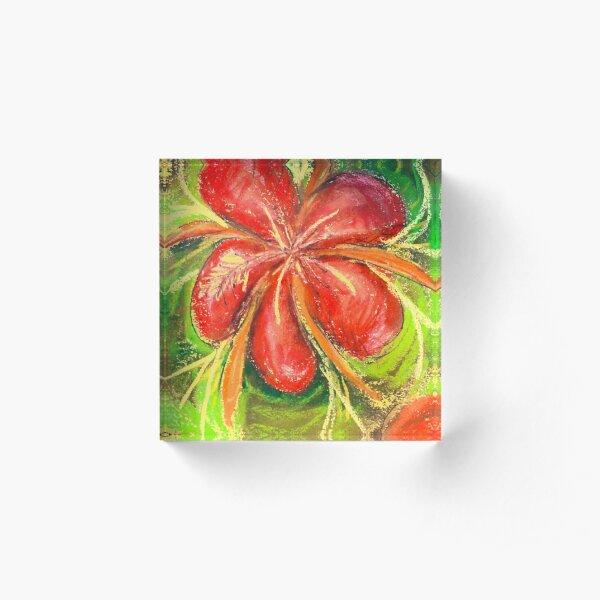 I Like Flowers - Hibiscus Acrylic Block