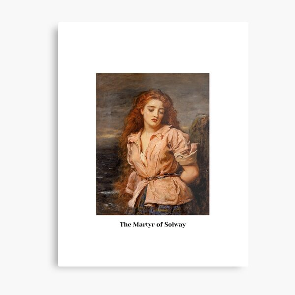 """""""The Martyr of Solway"""", by John Everett Millais Metal Print"""