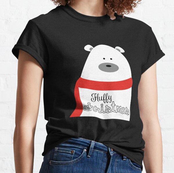 süßer, weihnachtlicher Bär mit Schal Classic T-Shirt