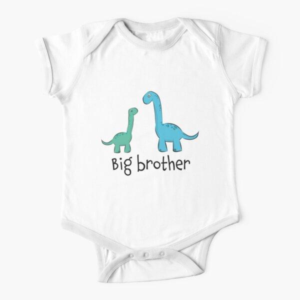 "süße Langhals Dino Dinosaurier Saurier Geschwister ""big brother"" Baby Body Kurzarm"