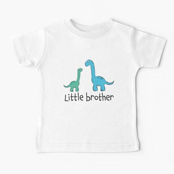 """süße Langhals Dino Dinosaurier Saurier Geschwister """"little brother"""" Baby T-Shirt"""