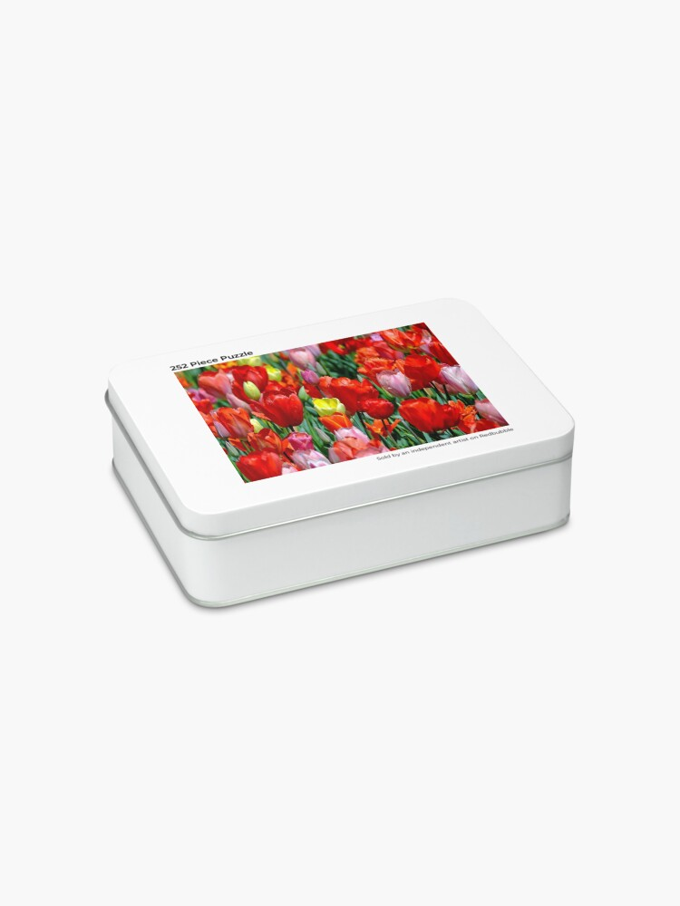 Alternate view of tulips pillow flowers Jigsaw Puzzle