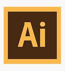 Adobe Illustrator Icon Photographic Print