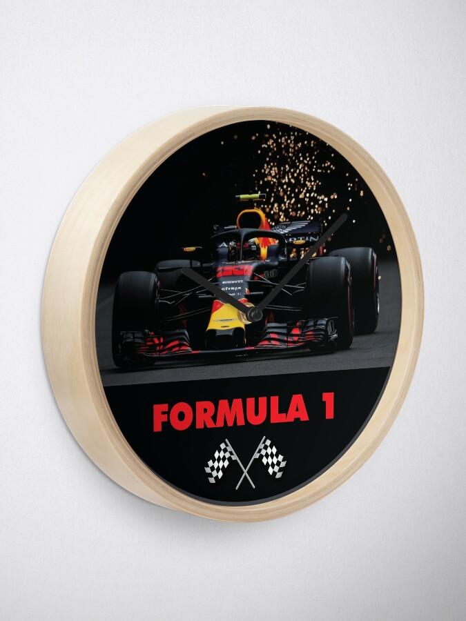 Alternate view of F1 Car racing Clock