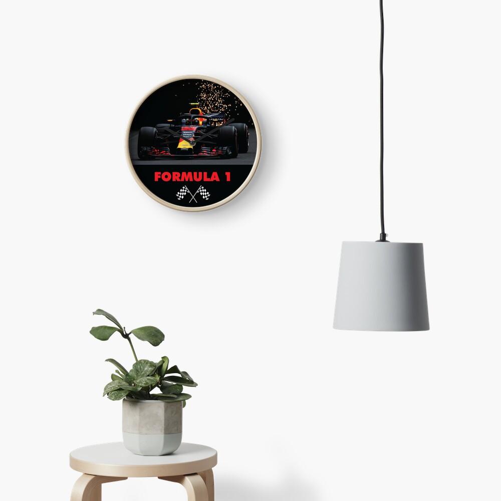 F1 Car racing Clock