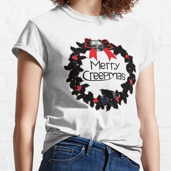 Merry Creepmas Gothic Wreath Classic T-Shirt