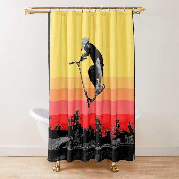 Kick Scooter sunset  Shower Curtain
