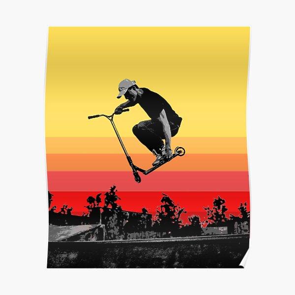 Kick Scooter coucher de soleil Poster