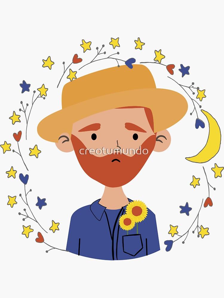Copia de Cute Van Gogh de creotumundo
