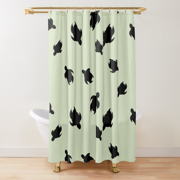 Turtles in the sea Shower Curtain