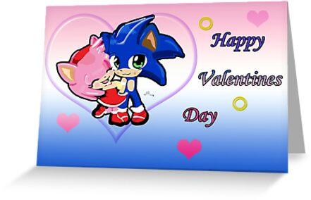Sonic & Amy Valentines  by LARiozzi