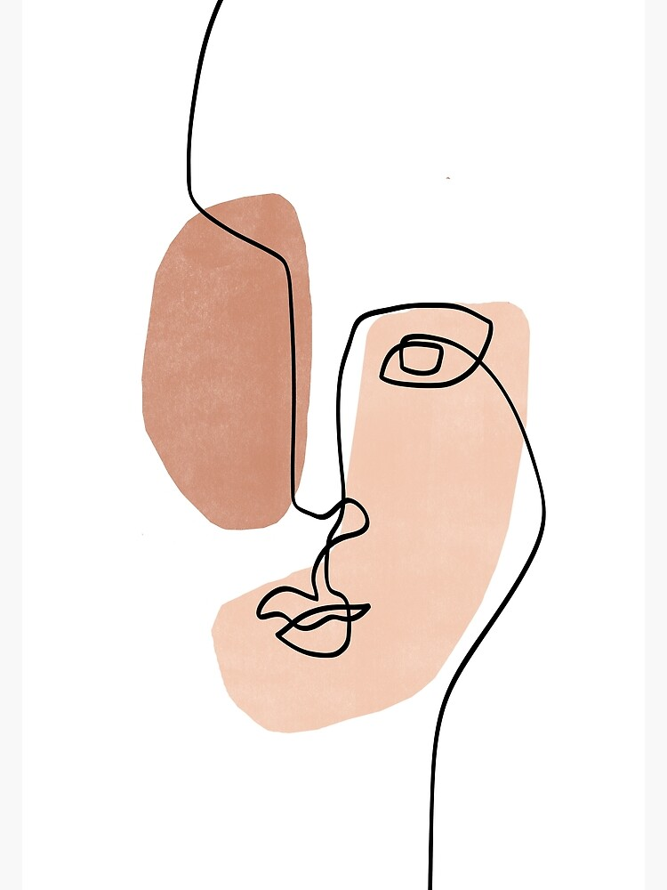 Abstract Face III - Line Art  by TheRedFinch