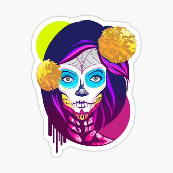Catrina, Day of the Dead Sticker