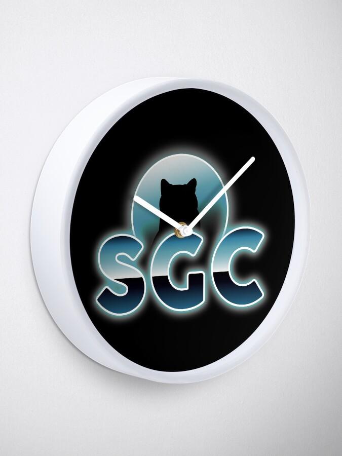 Horloge ''Shadow Gaming Communautaire SGC Sticker ': autre vue