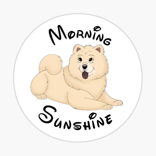 Cartoony Morning Sunshine Illustration Sticker