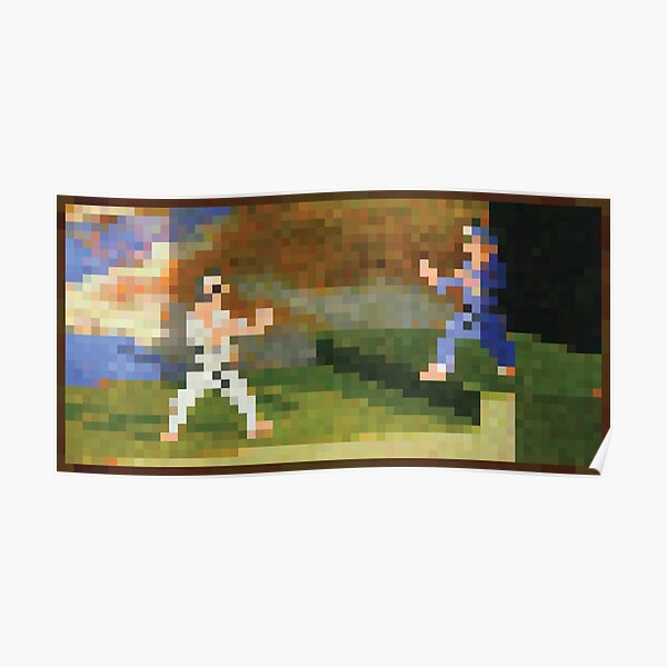 Minecraft Painting Fighters Poster