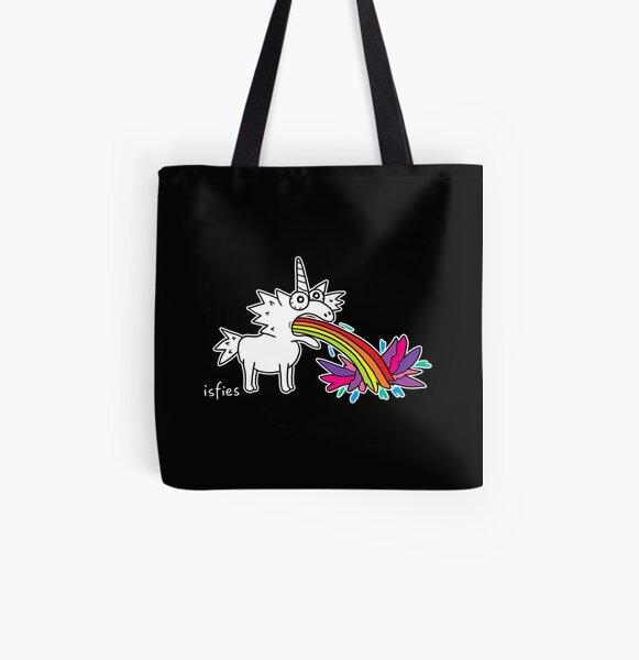 Regenbogen-Einhorn Allover-Print Tote Bag