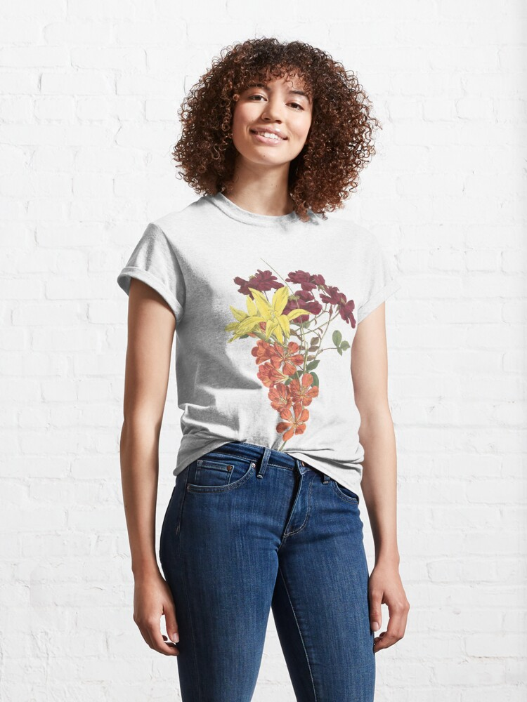 Alternate view of Bouquet of Rose, Freesia and Gladiolus Classic T-Shirt