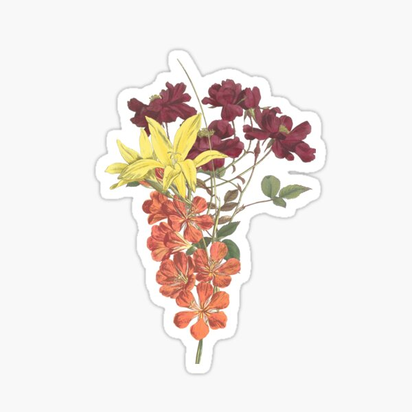 Bouquet of Rose, Freesia and Gladiolus Sticker