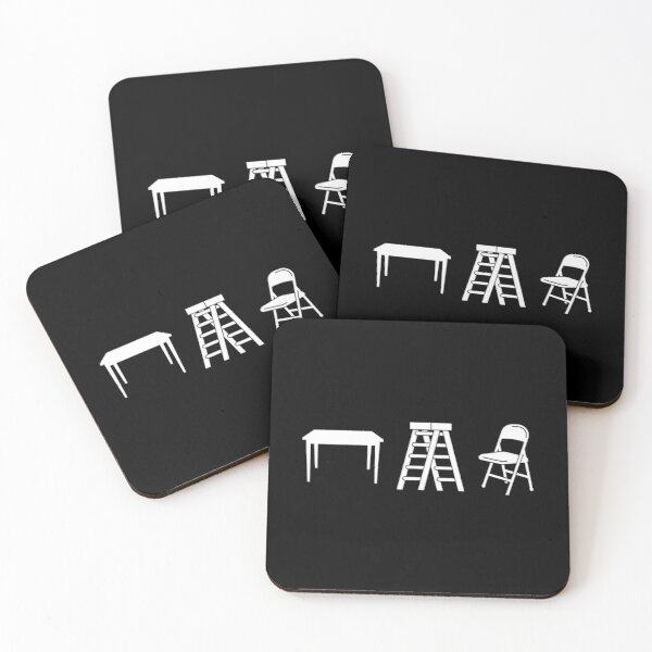 Tables, Ladders, and Chairs Coasters (Set of 4)