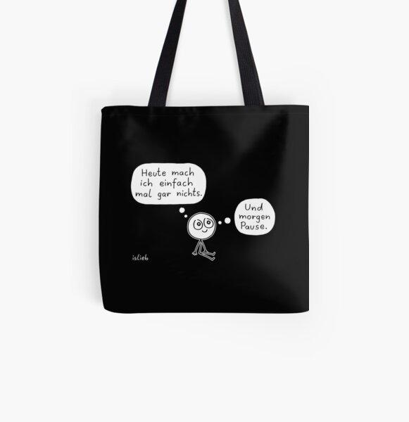 Wochenendplaene Allover-Print Tote Bag