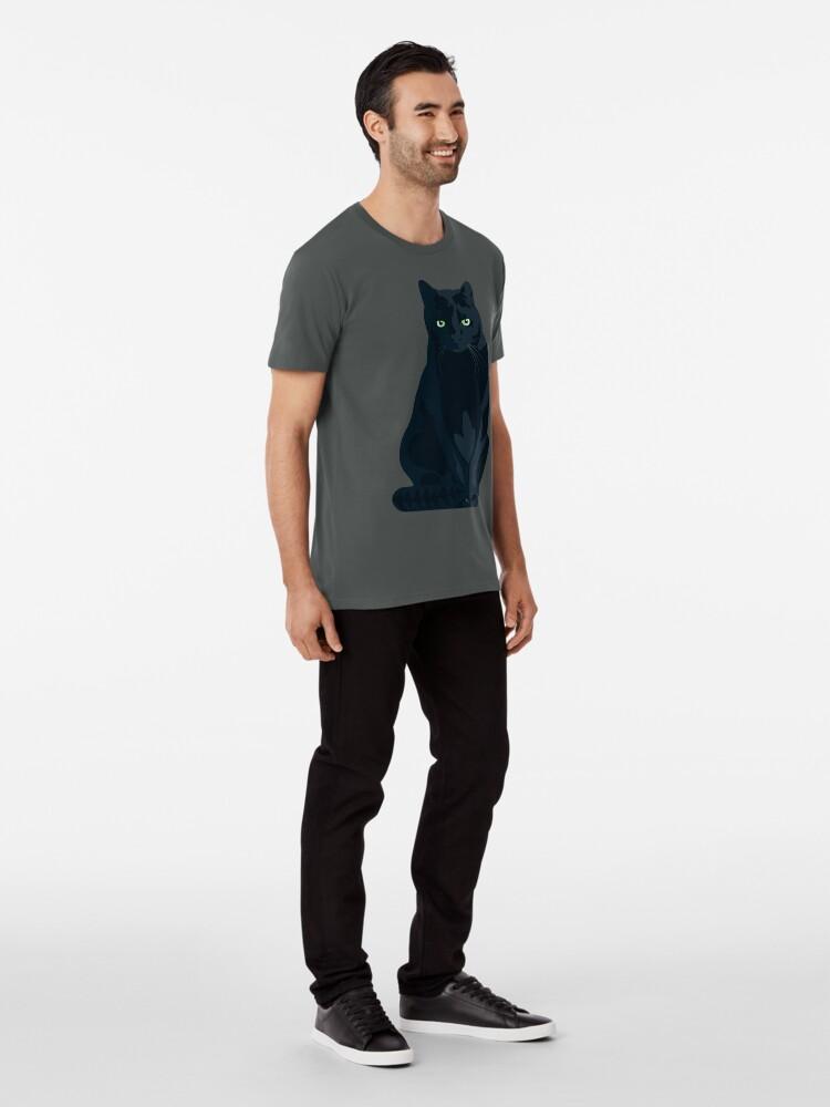 T-shirt premium ''Chat Shadow Gaming Communautaire': autre vue