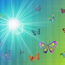 Butterflies in Flight by Chazagirl