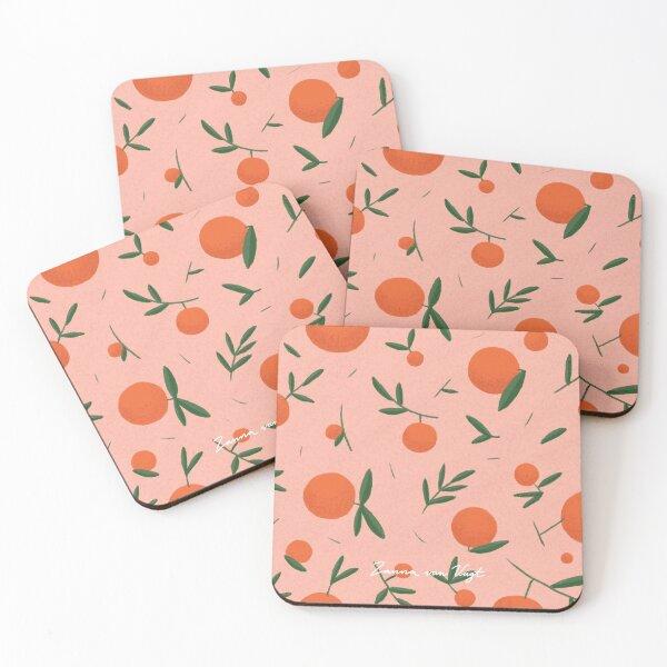 Orange Pattern Coasters (Set of 4)