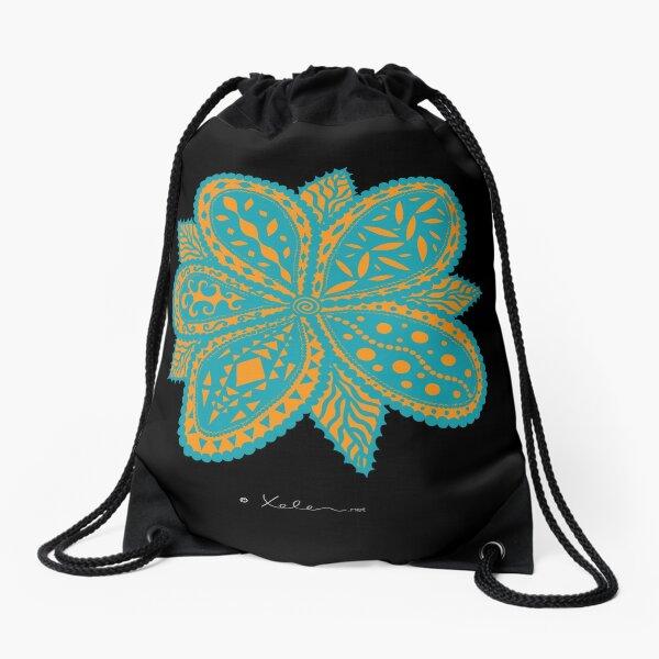 Magic Flower blue, Helen Berchtold Drawstring Bag