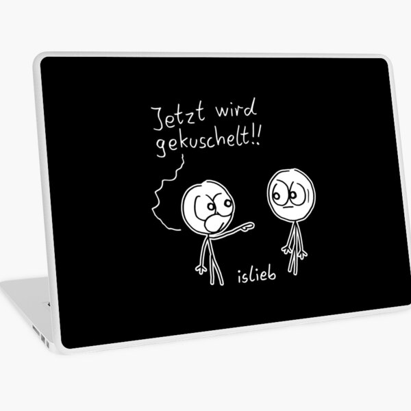 Kuschel Aufruf Laptop Folie