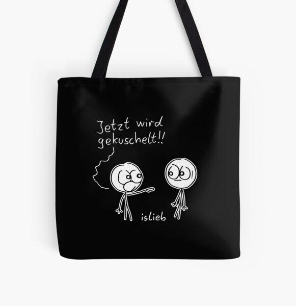 Kuschel Aufruf Allover-Print Tote Bag