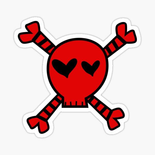 red y2k skull Sticker