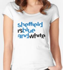 Sheffield is Blue & White Women's Fitted Scoop T-Shirt