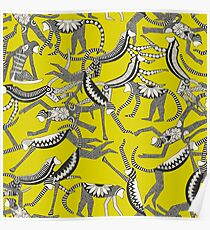 monkey chartreuse Poster