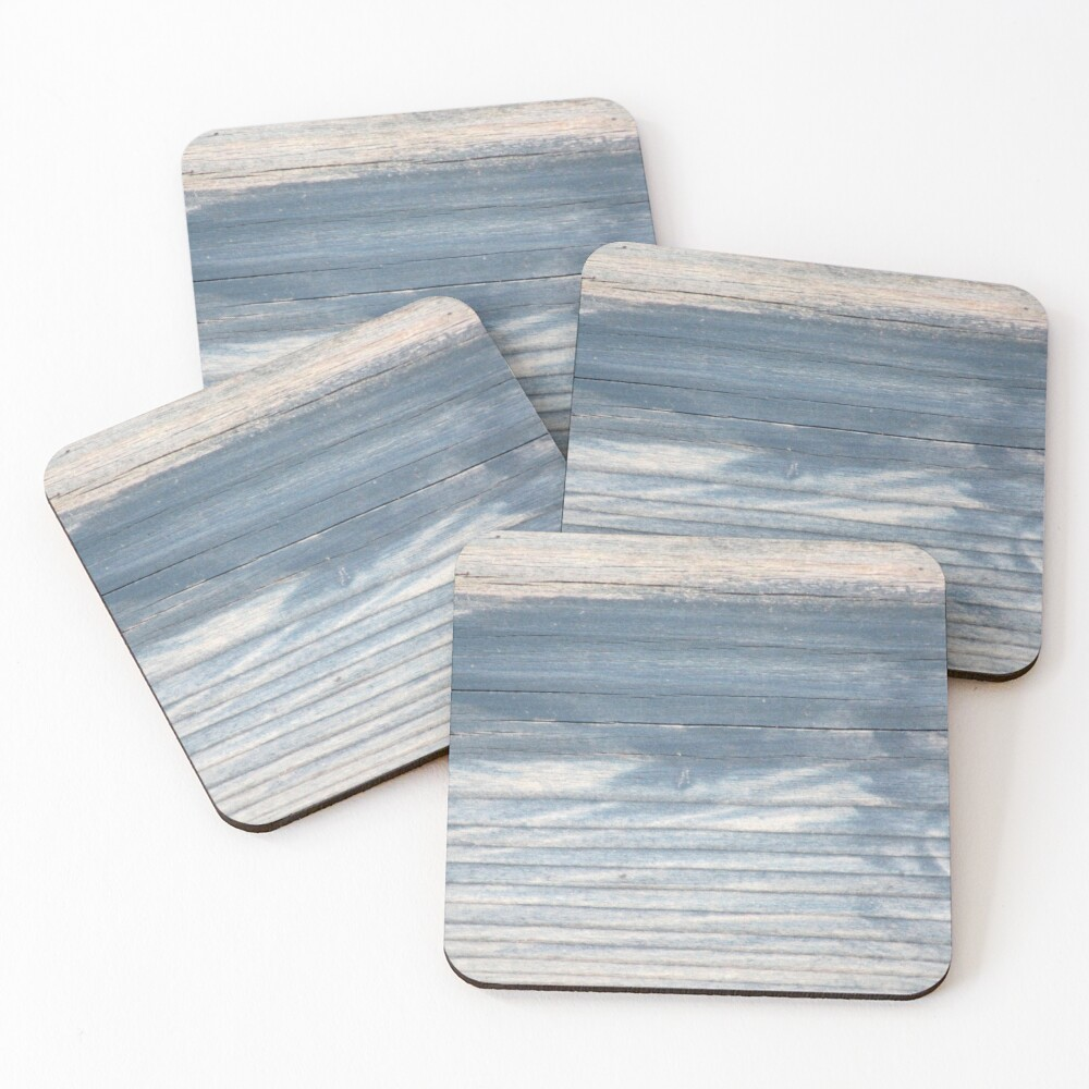 Blue wood texture Coasters (Set of 4)