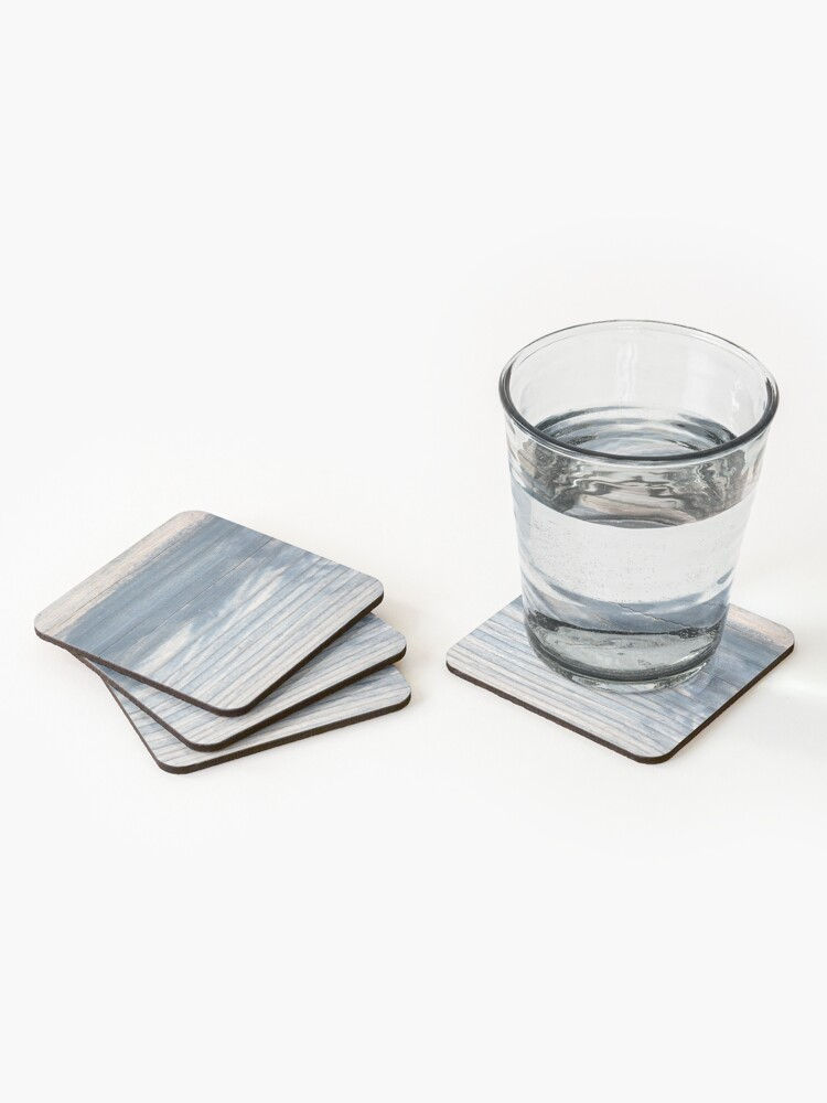 Alternate view of Blue wood texture Coasters (Set of 4)