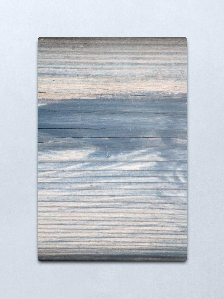 Alternate view of Blue wood texture Metal Print