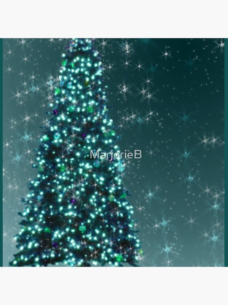 Blue Christmas Tree by MarjorieB