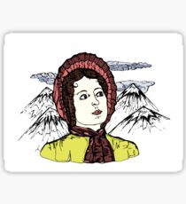 Elizabeth Bennet, what are men to rocks and mountains? Sticker