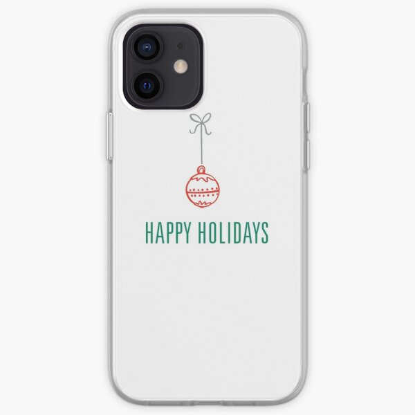 Holiday ornament, a beautifully simple Happy Holidays design. iPhone Soft Case