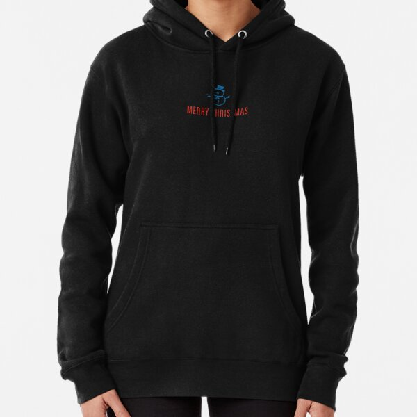 Snowman, a beautifully simple Merry Christmas design. Pullover Hoodie